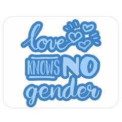 Love Knows No Gender Double Sided Flano Blanket (medium)  by Valentinaart