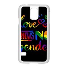 Love Knows No Gender Samsung Galaxy S5 Case (white) by Valentinaart
