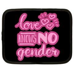 Love Knows No Gender Netbook Case (xl)  by Valentinaart