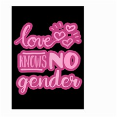 Love Knows No Gender Large Garden Flag (two Sides) by Valentinaart