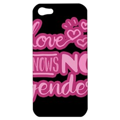 Love Knows No Gender Apple Iphone 5 Hardshell Case by Valentinaart