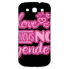 Love Knows No Gender Samsung Galaxy S3 S Iii Classic Hardshell Back Case by Valentinaart