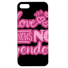Love Knows No Gender Apple Iphone 5 Hardshell Case With Stand by Valentinaart