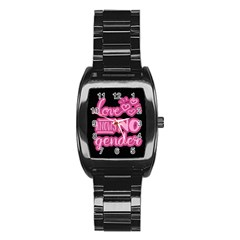 Love Knows No Gender Stainless Steel Barrel Watch by Valentinaart