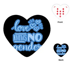 Love Knows No Gender Playing Cards (heart)  by Valentinaart