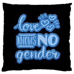 Love knows no gender Standard Flano Cushion Case (Two Sides) by Valentinaart