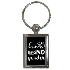 Love Knows No Gender Key Chains (rectangle)  by Valentinaart