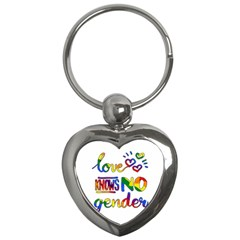Love Knows No Gender Key Chains (heart)  by Valentinaart