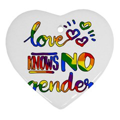 Love Knows No Gender Heart Ornament (two Sides) by Valentinaart