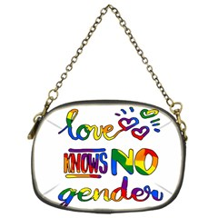 Love Knows No Gender Chain Purses (one Side)  by Valentinaart