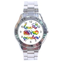Love Knows No Gender Stainless Steel Analogue Watch by Valentinaart