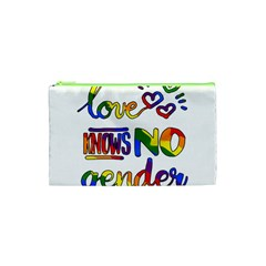 Love Knows No Gender Cosmetic Bag (xs) by Valentinaart