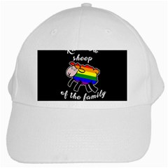 Rainbow Sheep White Cap by Valentinaart