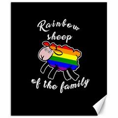 Rainbow Sheep Canvas 20  X 24   by Valentinaart