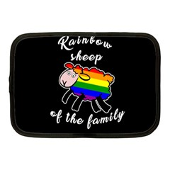 Rainbow Sheep Netbook Case (medium)  by Valentinaart
