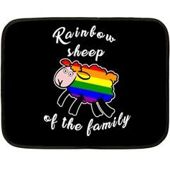Rainbow Sheep Fleece Blanket (mini) by Valentinaart