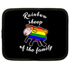 Rainbow Sheep Netbook Case (xxl)  by Valentinaart