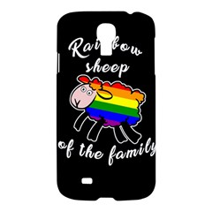 Rainbow Sheep Samsung Galaxy S4 I9500/i9505 Hardshell Case by Valentinaart