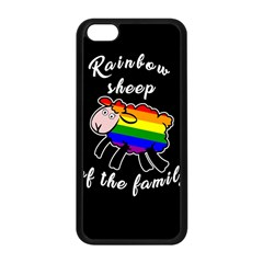 Rainbow Sheep Apple Iphone 5c Seamless Case (black) by Valentinaart