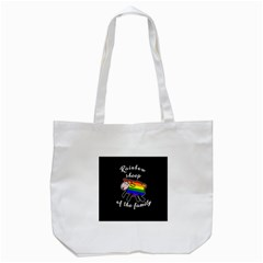 Rainbow Sheep Tote Bag (white) by Valentinaart