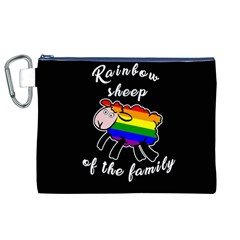 Rainbow Sheep Canvas Cosmetic Bag (xl) by Valentinaart