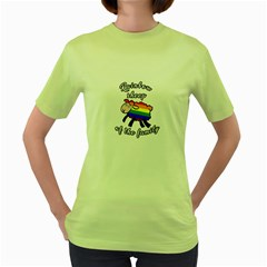 Rainbow Sheep Women s Green T Shirt by Valentinaart