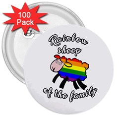 Rainbow Sheep 3  Buttons (100 Pack)  by Valentinaart