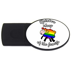 Rainbow Sheep Usb Flash Drive Oval (4 Gb) by Valentinaart