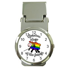 Rainbow Sheep Money Clip Watches by Valentinaart