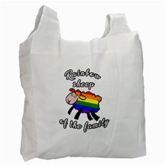 Rainbow Sheep Recycle Bag (two Side)  by Valentinaart