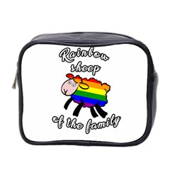 Rainbow Sheep Mini Toiletries Bag 2 Side by Valentinaart