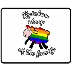 Rainbow Sheep Fleece Blanket (medium)  by Valentinaart