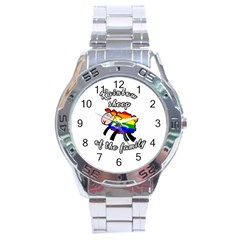 Rainbow Sheep Stainless Steel Analogue Watch by Valentinaart