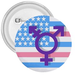 Transgender Flag 3  Buttons by Valentinaart