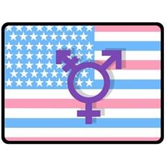Transgender Flag Double Sided Fleece Blanket (large)  by Valentinaart