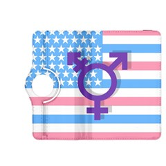 Transgender Flag Kindle Fire Hdx 8 9  Flip 360 Case by Valentinaart
