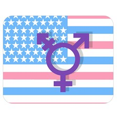 Transgender Flag Double Sided Flano Blanket (medium)  by Valentinaart