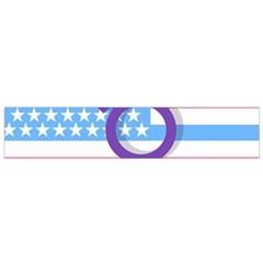 Transgender Flag Flano Scarf (small) by Valentinaart