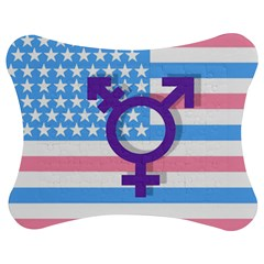 Transgender Flag Jigsaw Puzzle Photo Stand (bow) by Valentinaart