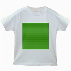 Lines Pattern Kids White T Shirts by Valentinaart