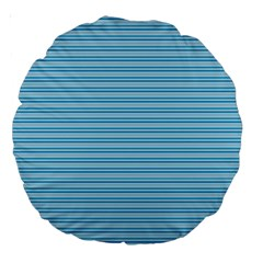 Lines Pattern Large 18  Premium Round Cushions by Valentinaart