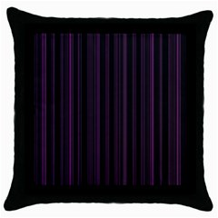 Lines Pattern Throw Pillow Case (black) by Valentinaart