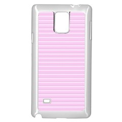 Lines Pattern Samsung Galaxy Note 4 Case (white) by Valentinaart