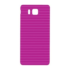 Lines Pattern Samsung Galaxy Alpha Hardshell Back Case by Valentinaart