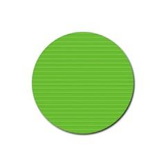 Lines Pattern Rubber Coaster (round)  by Valentinaart