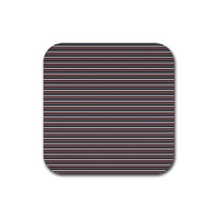 Lines Pattern Rubber Square Coaster (4 Pack)  by Valentinaart