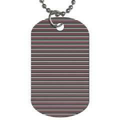 Lines Pattern Dog Tag (two Sides) by Valentinaart