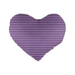 Lines Pattern Standard 16  Premium Flano Heart Shape Cushions by Valentinaart
