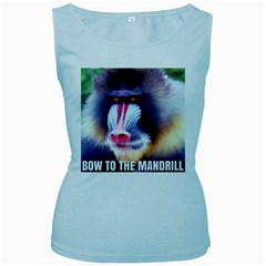 Bow To The Mandrill Women s Baby Blue Tank Top by RakeClag