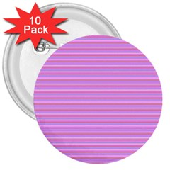 Lines Pattern 3  Buttons (10 Pack)  by Valentinaart